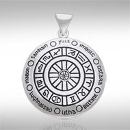Wheel of the Year Pendant in Sterling Silver