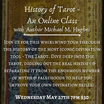 History of the Tarot with Author Michael M. Hughes