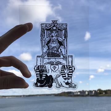 Vinyl Sticker - The Chariot Tarot Card