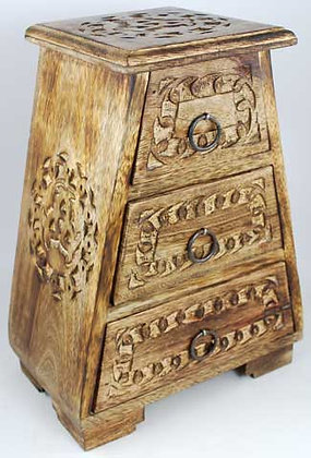 Carved Knotwork Wooden Cupboard