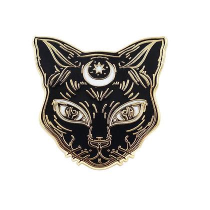 Luna Black Cat Enamel Pin