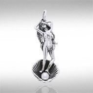 Aphrodite Pendant in Sterling Silver