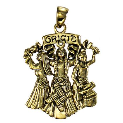 Brigid Pendant in Bronze