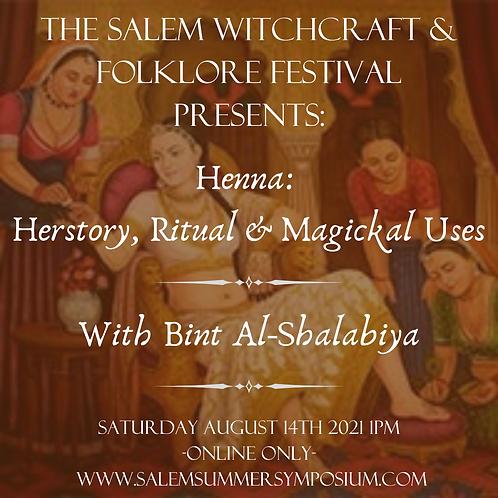 Henna: Herstory, Ritual & Magickal Uses