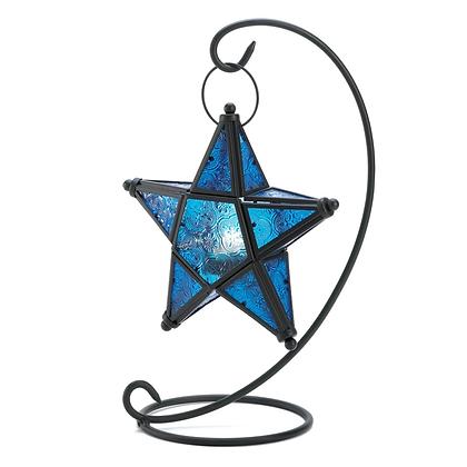Sapphire Star Table Lantern