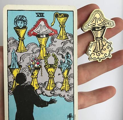 VII of Cups Tarot Card Enamel Pin
