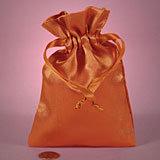 Orange Satin Mojo Bag