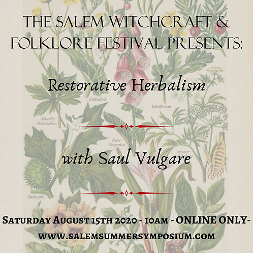 10AM - Restorative Herbalism
