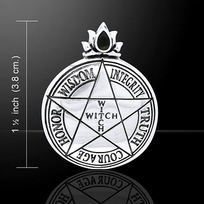 "Sterling Silver ""Witch"" Pentagram"