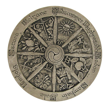 Large Wheel of the Year Wall Plaque
