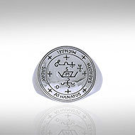 Archangel Michael Sigil Ring in Sterling Silver