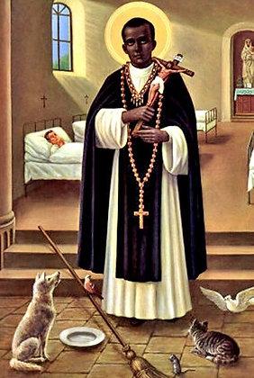 Saint Martin de Porres Black Label 7-Day Candle