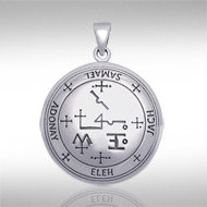 Archangel Samael Sigil Pendant in Sterling Silver