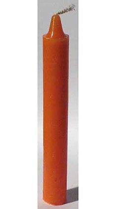 Orange Taper Candle