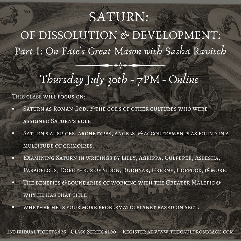 On Fate's Great Mason: Class I of V, with Sasha Ravitch ONLINE