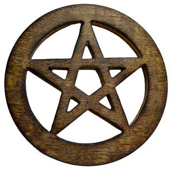 Wooden Pentacle Altar Tile