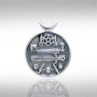 Witches Altar Pendant in Sterling Silver