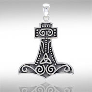 Thor's Hammer (Large) in Sterling Silver