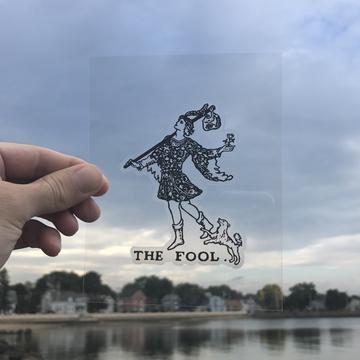 Vinyl Sticker - The Fool Tarot Card