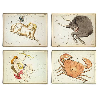 Vintage Zodiac Sign Astrology Print