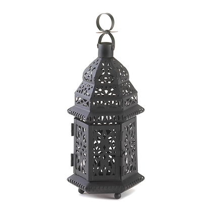 Metal Cut-Out Morrocan-Style Lantern