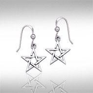Pentagram Earrings in Sterling Silver
