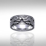 Dragon Band in Sterling Silver