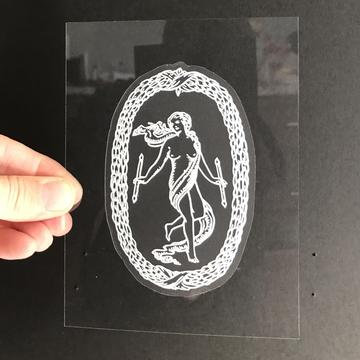 Vinyl Sticker - The World Tarot Card