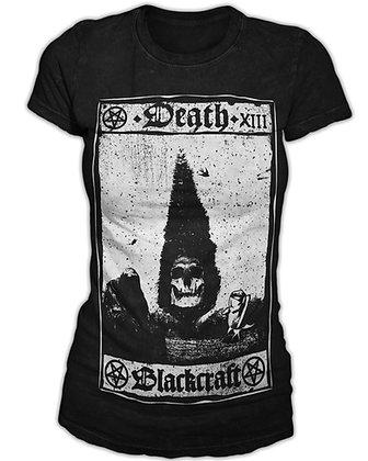 Death Tarot Card Womens T-Shirt