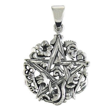 Sterling Silver Cimaruta Pendant