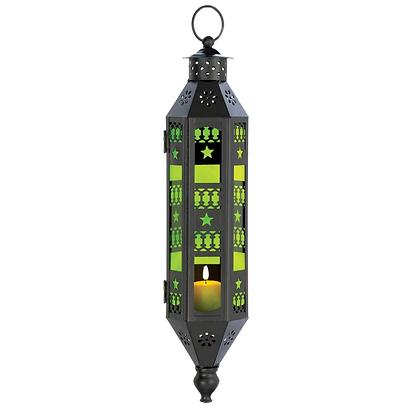 Large Emerald Glass Hanging Lantern