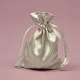 Silver Satin Mojo Bag