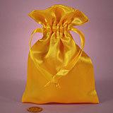 Yellow Satin Mojo Bag