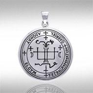 Archangel Gabriel Sigil Pendant in Sterling Silver