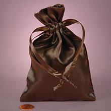 Brown Satin Mojo Bag