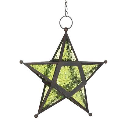 Glass Star Hanging Lantern