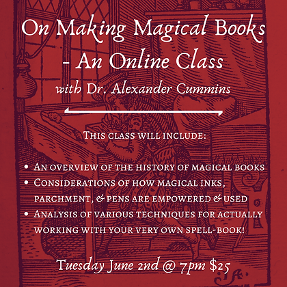 On Making Magical Books - An Online Class with Dr. Alexander Cummins