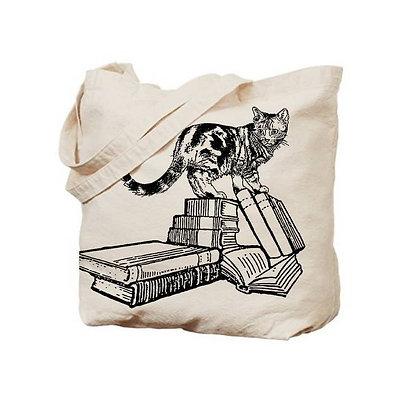 Bookstore Cat Tote Bag