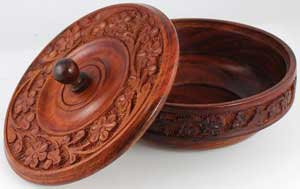 Wooden Offering Bowl with Lid