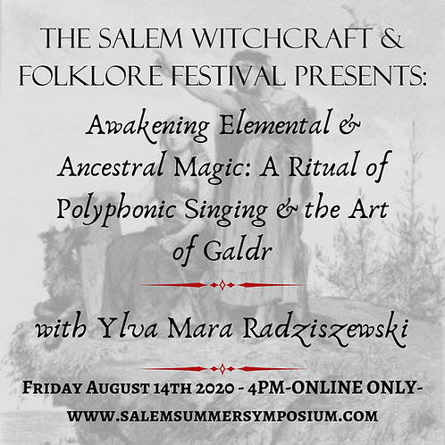4pm - Awakening Magic: A Ritual of Polyphonic Singing & the Art of Galdr