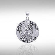 St. Christopher Pendant in Sterling Silver