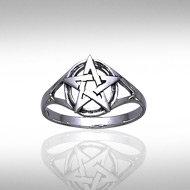 Pentagram Ring in Sterling Silver