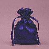 Blue Satin Mojo Bag