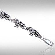 Raven Link Bracelet in Sterling Silver