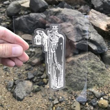 Vinyl Sticker - The Hermit Tarot Card