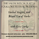 4PM - Herbal Magick and Ritual Use of Herbs