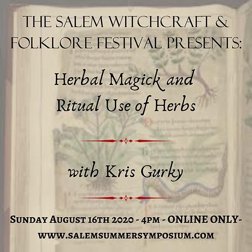 4PM - Herbal Magick and Ritual Use of Herbs