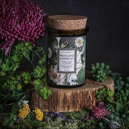 Botanica: White Lotus & Water Lily Candle