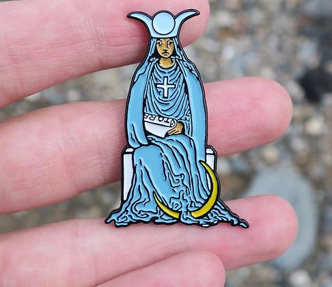 High Priestess Tarot Card Enamel Pin