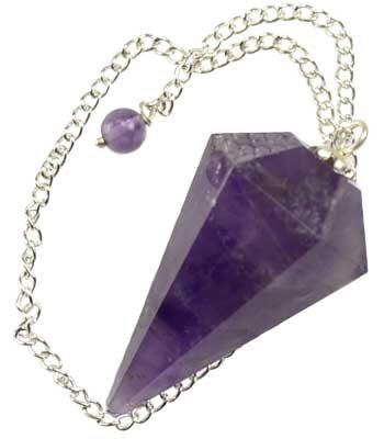 Faceted Amethyst Pendulum